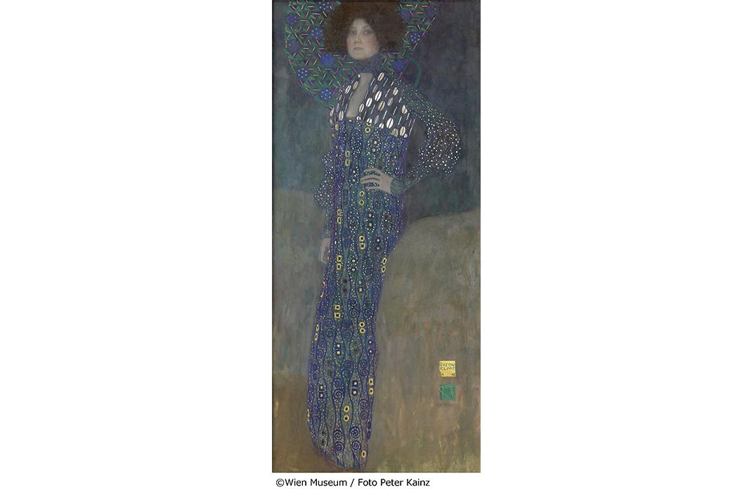 グスタフ・クリムト《エミーリエ・フレーゲの肖像》1902年