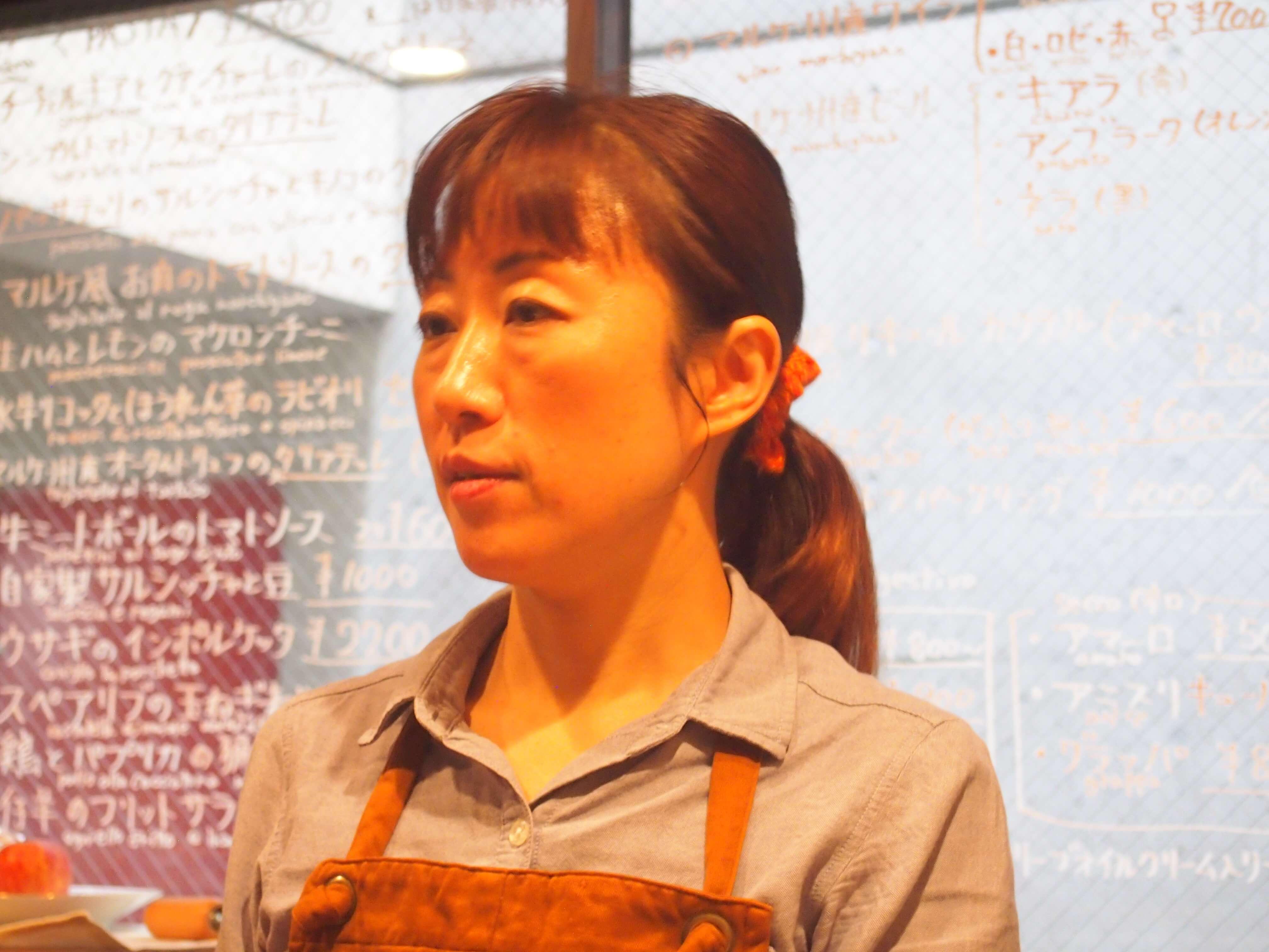 日本のマルケ料理の第一人者ともいえる連(むらじ)久美子シェフ。マルケで地産地消、スローフードの真髄を体験しました。